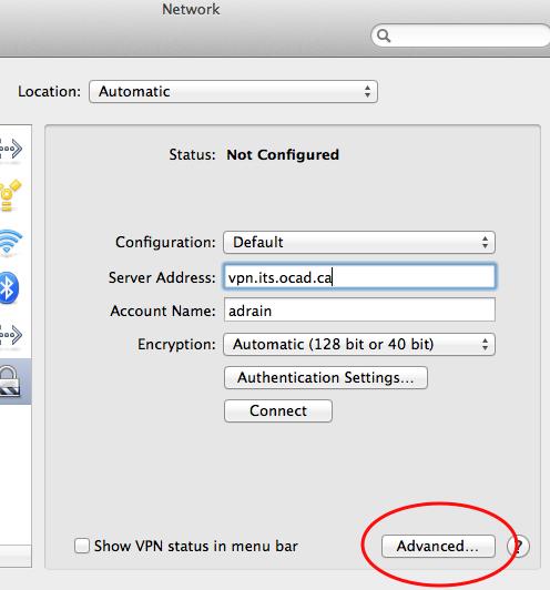 Step 5 VPN Mac