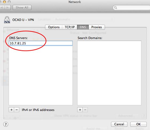 Step 7 VPN Mac