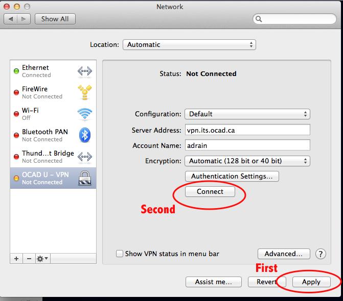 Step 8 VPN Mac