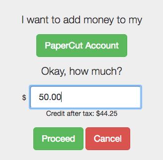 PaperCut Taxes