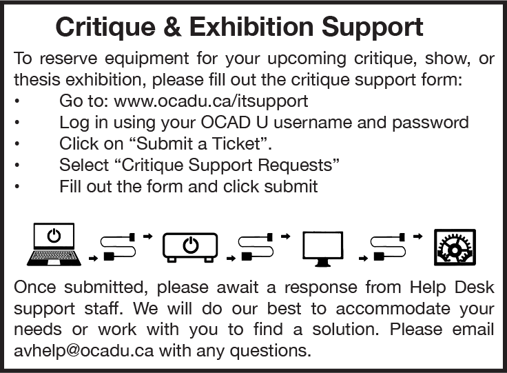 Critique & Exhibition Support